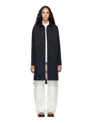 Jil Sander Navy Cotton Coat