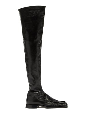 Jil Sander nikki leather over-the-knee boots