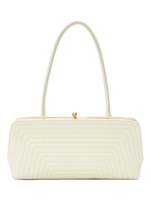Jil Sander off-white small quilted goji frame bag