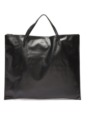 Jil Sander oversized smooth leather tote