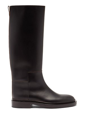 Jil Sander panelled knee-high leather boots