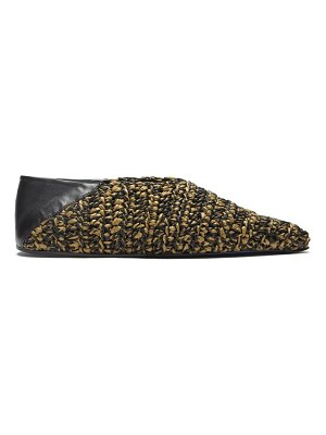 Jil Sander pointed woven-leather ballet flats