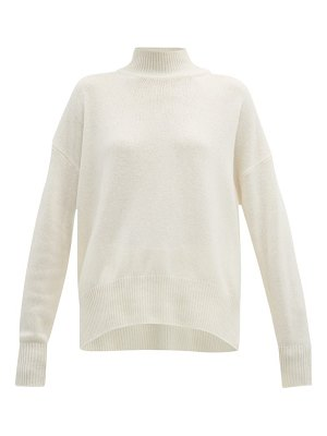Jil Sander rib knitted cashmere roll neck sweater