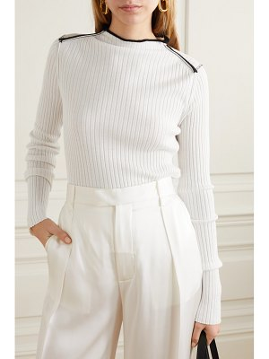 Jil Sander ribbed cashmere and silk-blend sweater - off-white