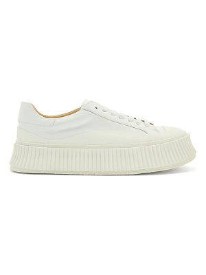 Jil Sander ribbed-sole leather lace-up trainers