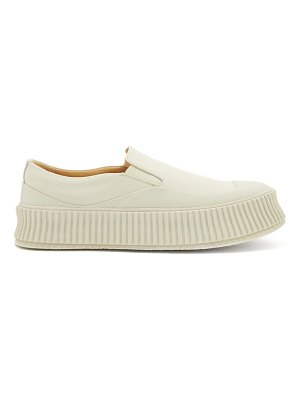 Jil Sander ribbed-sole slip-on leather trainers