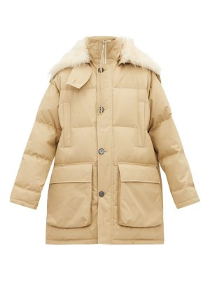 Jil Sander shearling-trimmed quilted down-filled jacket