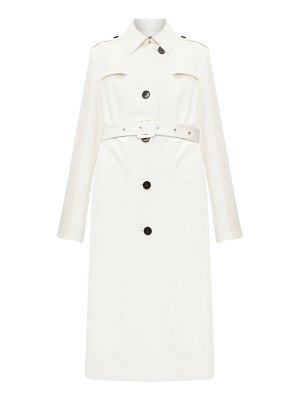 Jil Sander single-breasted leather trench coat