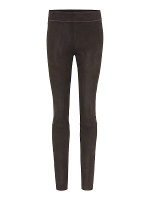 Jil Sander suede leggings