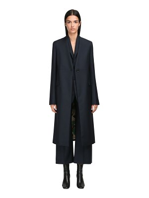 Jil Sander Wool & mohair single breasted coat
