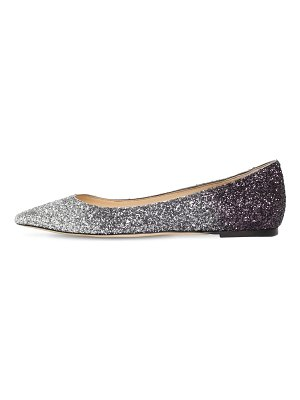 Jimmy Choo 10mm romy degradé glitter flats