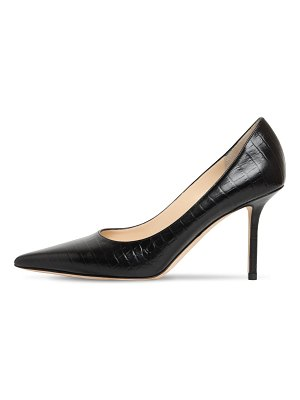 Jimmy Choo 85mm love croc embossed pumps