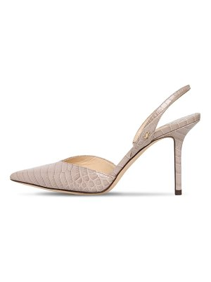 Jimmy Choo 85mm thandi embossed slingback pumps