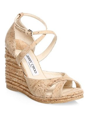 Jimmy Choo alanah cork wedge sandal
