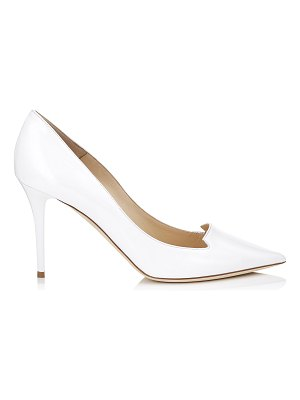 Jimmy Choo ALIA White Patent Leather Pointy Toe Pumps
