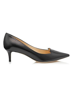 Jimmy Choo ALLURE Black Kid Leather Pointy Toe Pumps