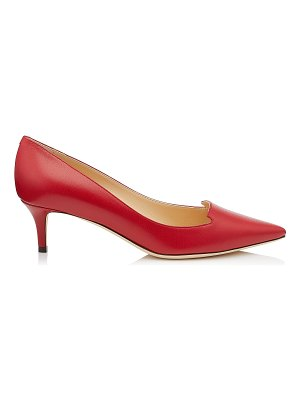 Jimmy Choo ALLURE Red Kid Leather Pointy Toe Pumps