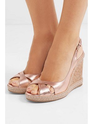 Jimmy Choo amely 105 metallic leather espadrille wedge sandals