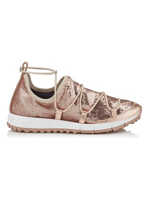 Jimmy Choo ANDREA Tea Rose Stretched Pailettes Slip On Trainers