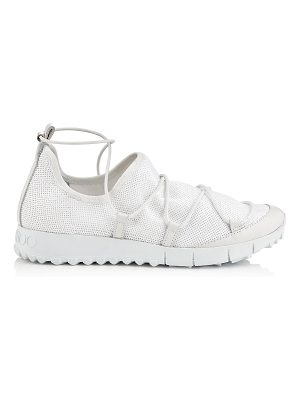 Jimmy Choo ANDREA White Stretched Pailettes Slip On Trainers