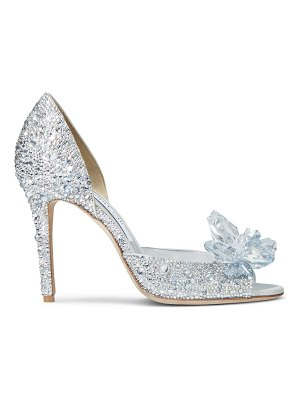 Jimmy Choo ANILLA 100 Crystal Covered Open Toe Pumps