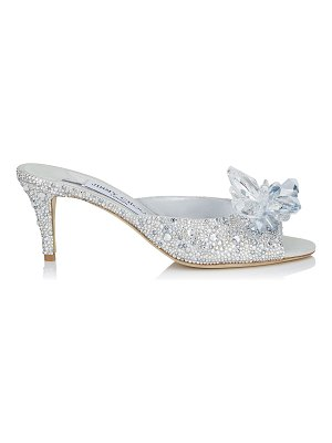 Jimmy Choo ANISSA 65 Crystal Covered Open Toe Mules