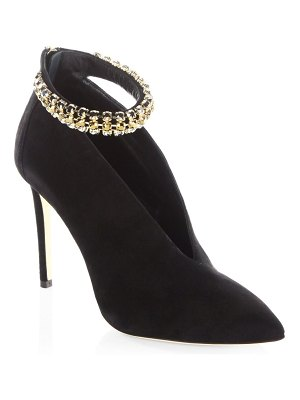 Jimmy Choo Ankle Strap Suede Booties