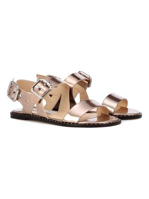 Jimmy Choo Astrid Flat metallic leather sandals