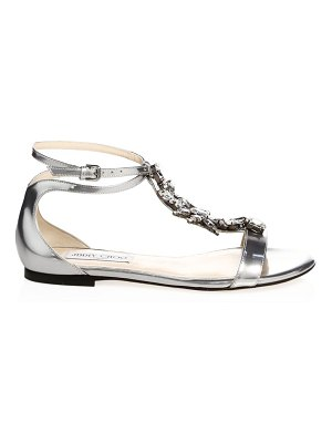 Jimmy Choo Averie Embellished Flat Sandals