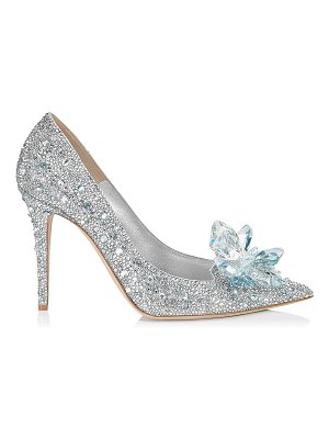 Jimmy Choo AVRIL Crystal Covered Pointy Toe Pumps