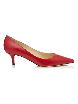 Jimmy Choo AZA Red Kid Leather Pointy Toe Pumps