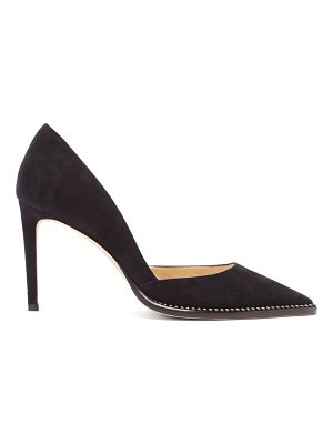 Jimmy Choo babette 85 crystal-trimmed suede pumps