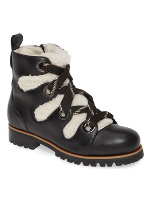 Jimmy Choo bei hiking boot with genuine shearling lining