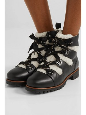 Jimmy Choo bei leather and shearling ankle boots