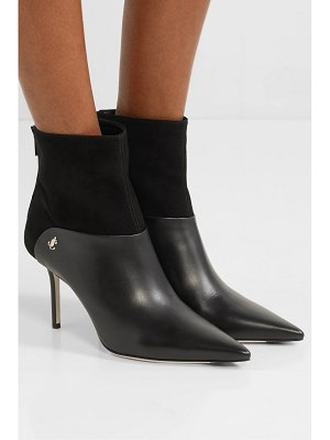 Jimmy Choo beyla 85 suede and leather ankle boots