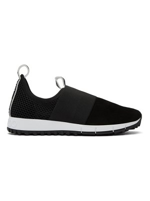 Jimmy Choo black suede and mesh oakland sneakers