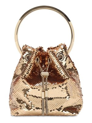 Jimmy Choo Bon bon sequined bucket bag