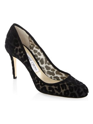 Jimmy Choo Bridget 85 Leopard-Print Pumps