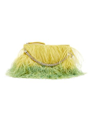 Jimmy Choo callie feather-trimmed clutch