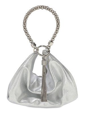 Jimmy Choo Callie metallic leather bag