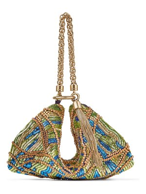 Jimmy Choo CALLIE Multicolour Clutch Bag with Bead and Crystal Embroidery