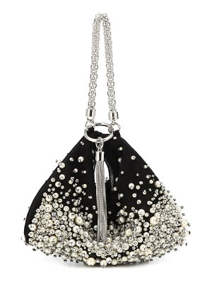 Jimmy Choo callie pearl-embroidered clutch