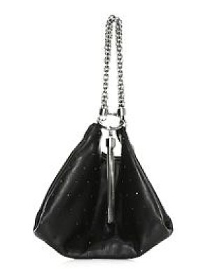 Jimmy Choo callie tassel embellished leather clutch