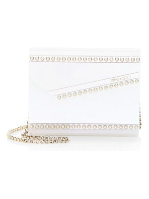 Jimmy Choo candy pearl-embellished convertible clutch