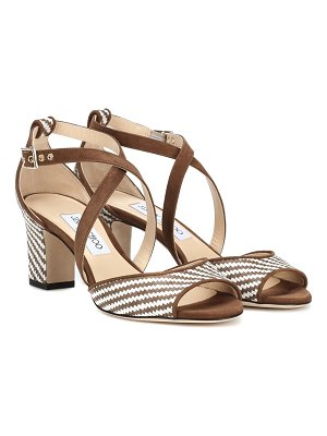 Jimmy Choo Carrie 65 raffia sandals