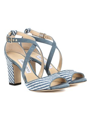 Jimmy Choo Carrie 85 raffia sandals