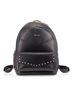 Jimmy Choo CASSIE Black Nappa Leather Backpack with Star Studs