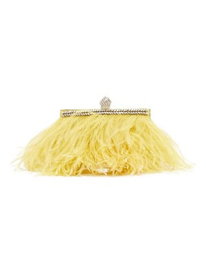 Jimmy Choo celeste crystal embellished feather clutch