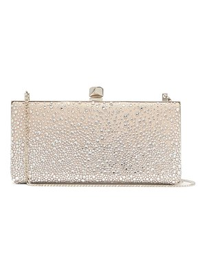 Jimmy Choo celeste crystal embellished satin clutch