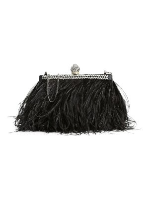 Jimmy Choo celeste ostrich feather satin clutch